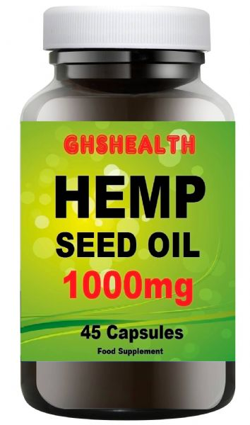 Hemp Seed Oil 1000mg - 45 capsules (this is not CBD) but from the same plant